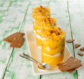 Dessert with mango Royalty Free Stock Images