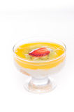 Dessert with mango and peach Royalty Free Stock Image