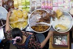 Dessert in markt Royalty-vrije Stock Foto