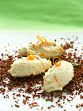 Dessert with mascarpone cream royalty free stock photography