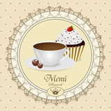 Dessert menu. This is vector dessert menu pattern Royalty Free Stock Image