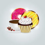 Dessert menu. Vector dessert menu pattern picture Royalty Free Stock Photo
