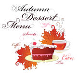 Dessert menu. Royalty Free Stock Image