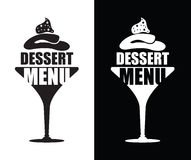 Dessert menu background. Black and white dessert menu background Stock Photos