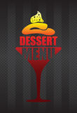 Dessert menu background Royalty Free Stock Image