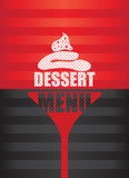 Dessert menu background Royalty Free Stock Images