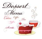 Dessert menu. Stock Image