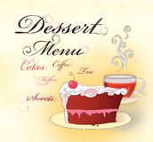 Dessert menu. Stock Images