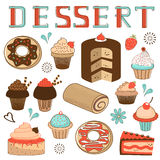 Dessert menu composition Royalty Free Stock Images