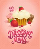 Dessert menu cover vector design concept Stock Photos