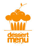 Dessert Menu icon. Dessert Menu orange cake icon Royalty Free Stock Photos