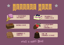 Dessert menu Royalty Free Stock Image