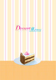 Dessert menu template. Vintage style dessert menu template Stock Photography