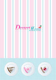 Dessert menu template. Vintage style dessert menu template Royalty Free Stock Image