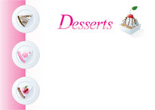 Dessert menu template Stock Image