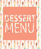 Dessert Menu Template. Vector Illustration Royalty Free Stock Image