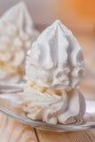 Dessert (meringue, crème fouettée, crème glacée) Images stock