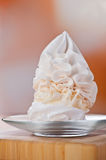 Dessert (meringue, whipped cream, Royalty Free Stock Images