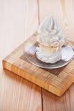 Dessert (meringue, whipped cream, Stock Photo