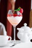 Dessert met aardbei Royalty-vrije Stock Foto