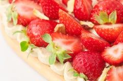 Dessert met aardbei Stock Afbeelding