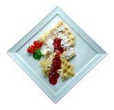 Dessert met aardbeien Royalty-vrije Stock Afbeeldingen