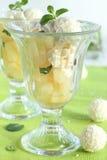 Dessert met ananas. Stock Afbeeldingen