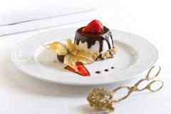 Dessert met chocolade Royalty-vrije Stock Afbeeldingen
