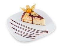 Dessert met chocolade royalty-vrije stock foto's