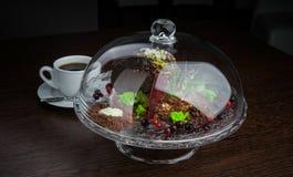 Dessert met een kop van koffie Royalty-vrije Stock Foto
