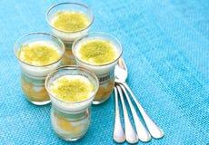 Dessert met mango Stock Afbeelding