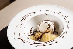 Dessert met roomijs Royalty-vrije Stock Foto's