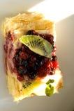 Dessert met verschillende vruchten Stock Fotografie