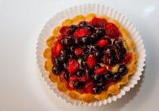 Dessert met wilde bessen Stock Fotografie
