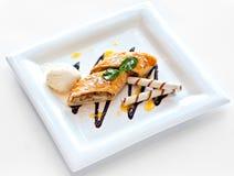 Dessert met zoete pastei Royalty-vrije Stock Foto