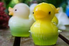 Dessert mignon de gelée de canard Photos stock