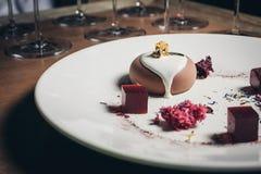 Dessert minuto della torta Fotografie Stock