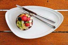 Dessert Mixed della torta della frutta Fotografie Stock Libere da Diritti