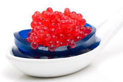 Dessert moléculaire de gastronomie photographie stock