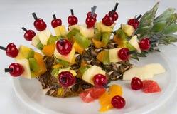 Dessert - morsi della frutta Fotografie Stock Libere da Diritti