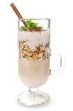 Dessert with muesli and yogurt Stock Image