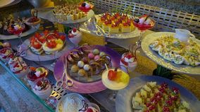 Dessert nel buffet stock footage