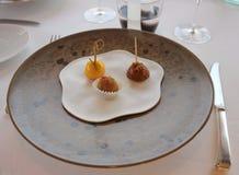 Dessert nel ristorante Fotografie Stock