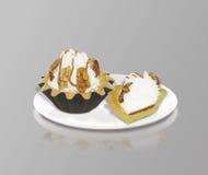 Dessert nut basket Royalty Free Stock Photography