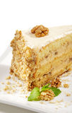 Dessert - Nuts Cheesecake Royalty Free Stock Photography