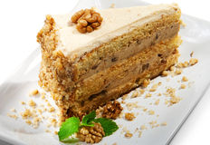 Dessert - Nuts Cheesecake Stock Photography