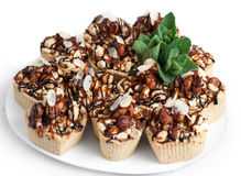 Dessert with nuts. Royalty Free Stock Photo