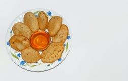 Dessert o pancake tradizionali indiani di Malpua- per i festival fotografie stock libere da diritti