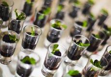Dessert op de lijst van het cateringsbanket Royalty-vrije Stock Foto's