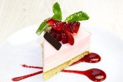 Dessert op een lijst met thee Stock Afbeelding